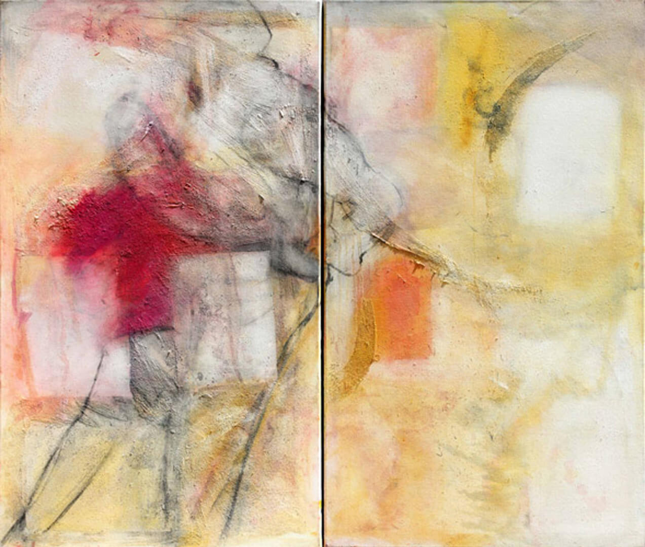 2007 - Oil on canvas. Diptych de 70 cm. x 120 cm. each.