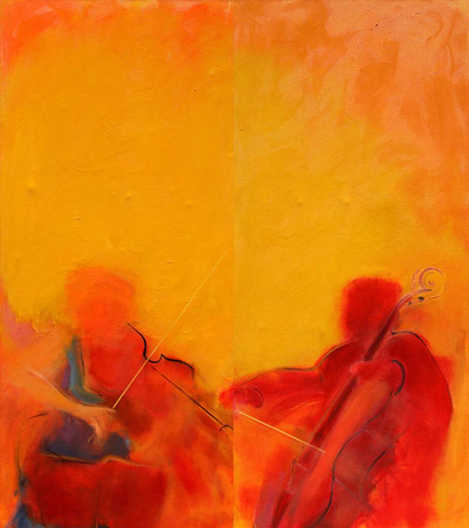 2006 - Oil on canvas. Diptych. 160 cm. x 100 cm.